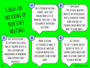 5 Ideas for Switching Up Your Staff Meetings