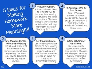 5 Ideas for Making Homework More Meaningful