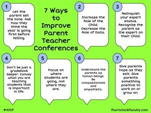 Ways to Improve Parent Teacher Conferences