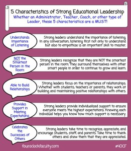 5 Characteristics of Strong Educational Leadership