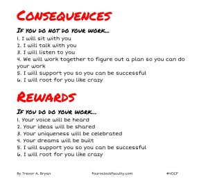 consequences and rewards