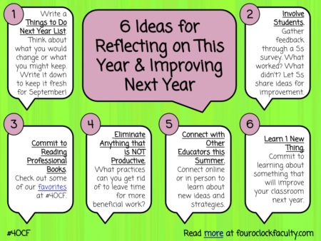 5 Ideas for Reflecting on This Year and Improving Next Year