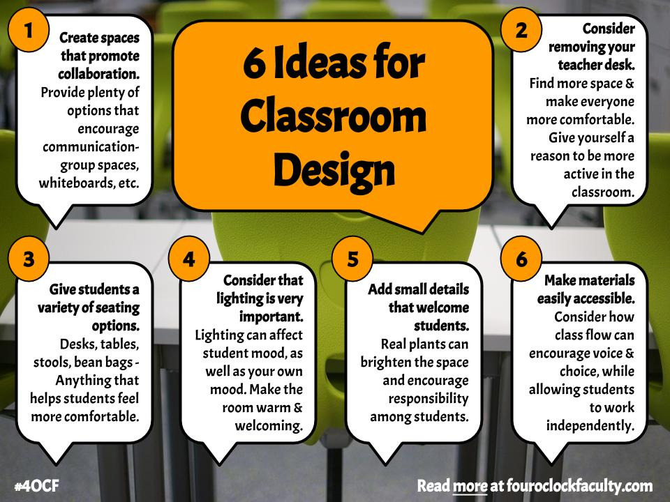 6 Ideas For Classroom Design (1) U2013 4 O\u0027Clock Faculty
