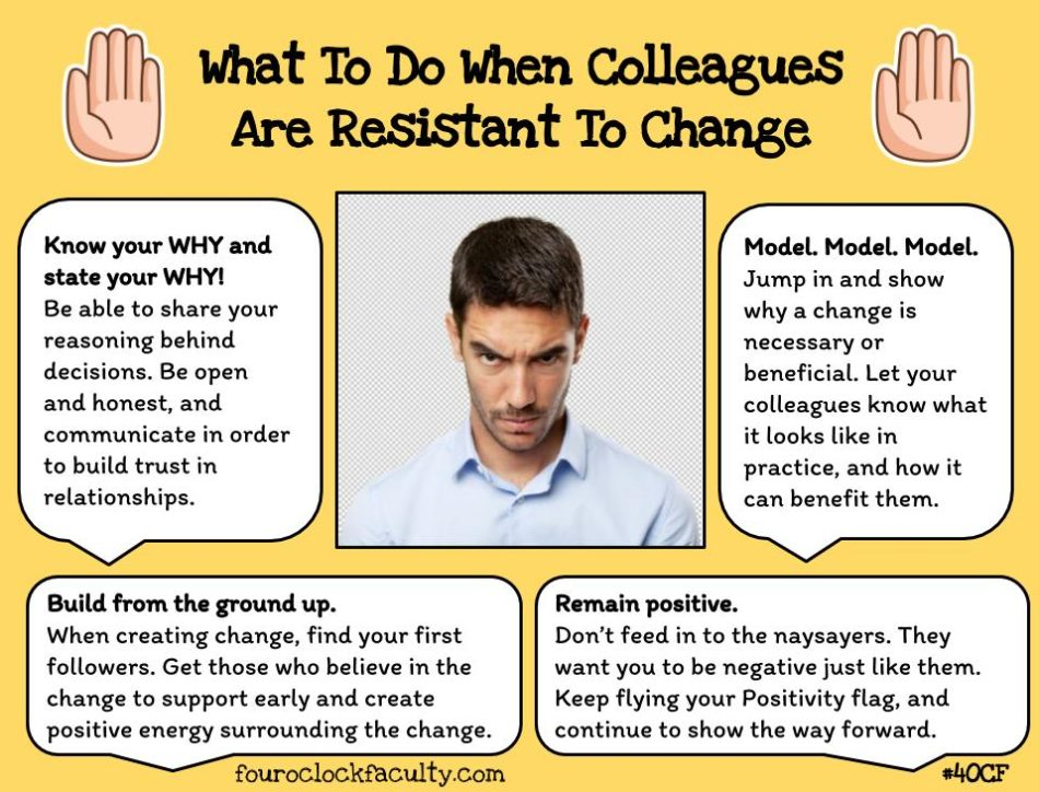 how to face resistance to change Resistance to change refers to any behavior furthering the maintenance of the  status quo in the face of pressures to alter it much of the literature on change.