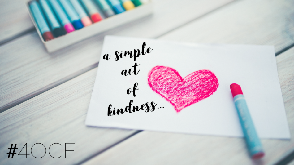 a simple act of kindness Anyone who has ever shared a random act of kindness knows just how much they how your small random acts of kindness something as simple as a smile.