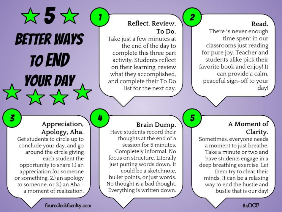 5 Better Ways to End Your Day – 4 O'Clock Faculty