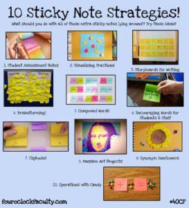 fouroclockfaculty.com - rczyz - 10 Sticky Note Strategies